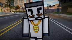 Reginald - Stickmin Skin from Minecraft para GTA San Andreas
