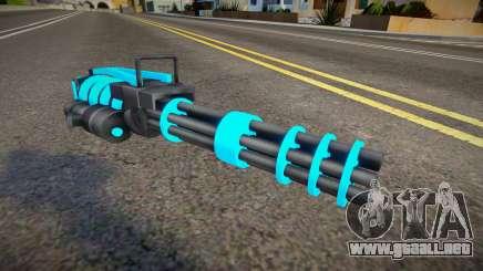 Blue Tron Legacy - Minigun para GTA San Andreas